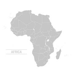 Africa grey map vector