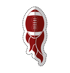 american football balloon with flame icon vector image
