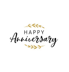 Anniversary celebration design with lettering vector