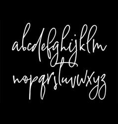 Ballpen handwritten alphabet vector