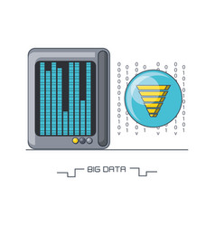 big data design vector image