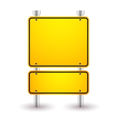 blank yellow sign vector image