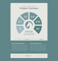 blue infographic document template vector image