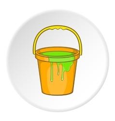 Bucket of paint icon cartoon style vector
