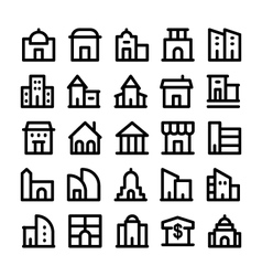 Buildings and Furniture Icons 2 vector