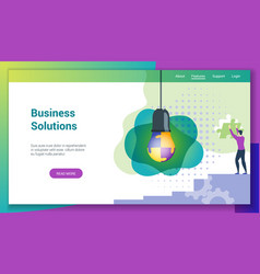 business solutions flat design concept2 vector image