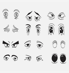 cartoon eyes in vector image