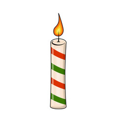 christmas candle for christmas design isolated on vector image