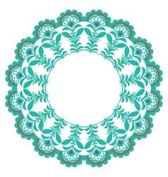 Christmas circle ornament vector