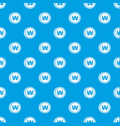 coins wont pattern seamless blue vector image