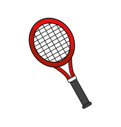 Color racket to play tennis icon vector