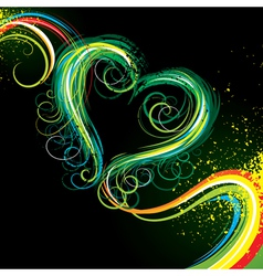 Colour heart vector