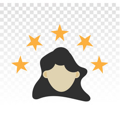 Customer experience icon with 5 star satisfaction vector