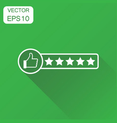 customer review icon business concept thumb up vector image