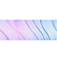 Dynamic wave transparent tulle textile on wind vector