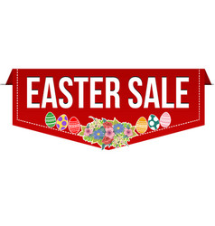 easter sale banner design vector image