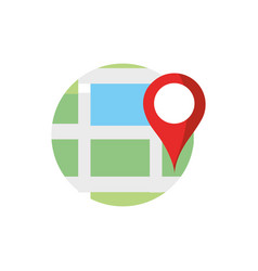 finding way pointer gps map and navigation vector image