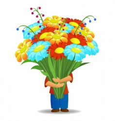 floral bouquet vector image