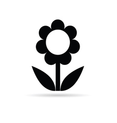 flower black vector image