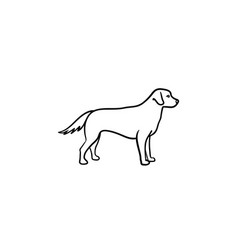 Friendly dog hand drawn outline doodle icon vector