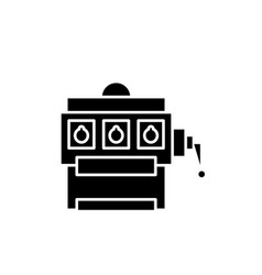 Gambling black icon sign on isolated vector