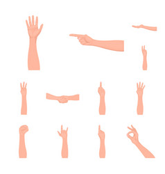 gestures and their meaning cartoon icons in set vector image