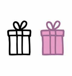 gifts freehand vector image