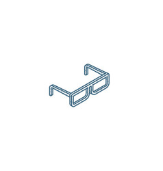 glasses isometric icon 3d line art technical vector image