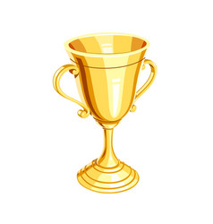 gold champion cup vector image