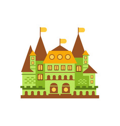 green fairytale royal castle or palace building vector image vector image