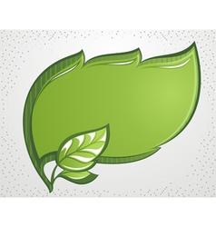 Green leaf frame vector