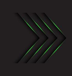 green light arrows direction on black vector image