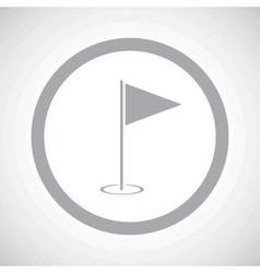 Grey flagstick sign icon vector image