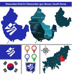 haeundae district busan city south korea vector image