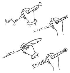 Hand write love vector