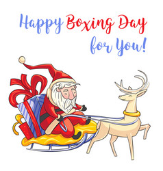 happy boxing day for you concept banner cartoon vector image
