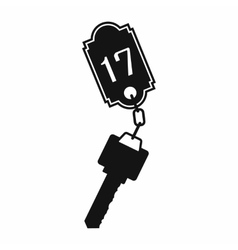 Hotel key with a room number vector image
