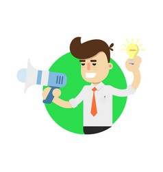 idea generation icon with businessman vector image