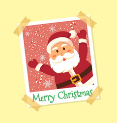 Instant photo frame santa claus christmas vector