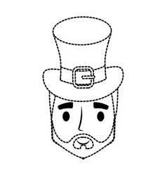 Irish top hat design vector