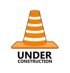 isolated traffic cone under construction vector image