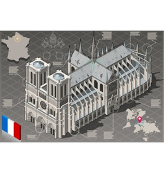 Isometric Infographic Notre Dame de Paris - HD vector image