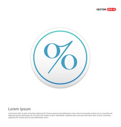 Labels percent price icon hexa white background vector