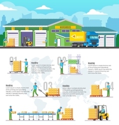 Logistic Warehouse Infographic vector