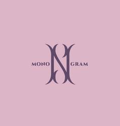 luxury monogram n vector image