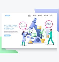 marijuana research website landing page vector image