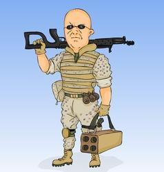 militarist vector image
