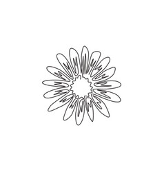 One continuous line drawing beauty fresh vector