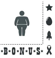 Overweight man symbol vector
