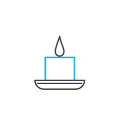 paraffin candle thin line stroke icon vector image